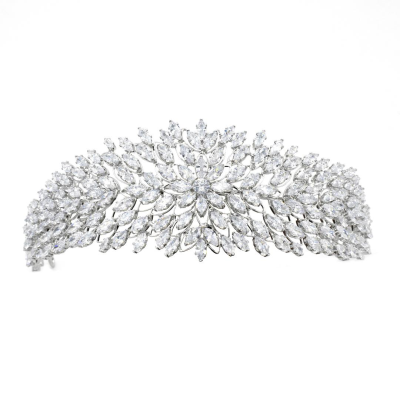 CUBIC ZIRCONIA COLLECTION - LUXE GLAM HEADBAND - AHB57