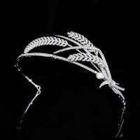 CUBIC ZIRCONIA COLLECTION - GATSBY STARLET HEADPIECE - AHB60 SILVER