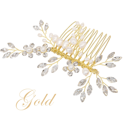 ATHENA COLLECTION - SIMPLY CHIC HAIR COMB - HC220  GOLD