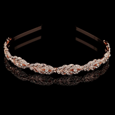 ATHENA COLLECTION - CRYSTAL HEADBAND - AHB32  ROSE GOLD