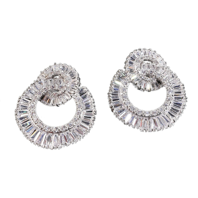 CUBIC ZIRCONIA COLLECTION - HOLLYWOOD GLAM EARRINGS - CZER438