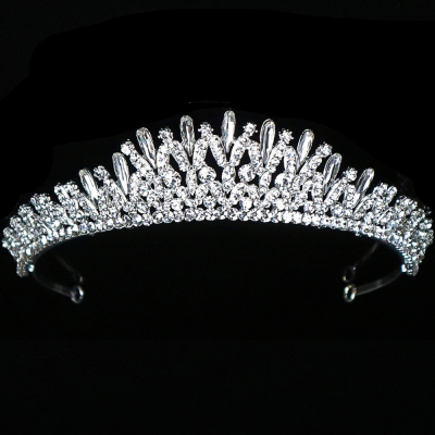 CUBIC ZIRCONIA COLLECTION - CRYSTAL TREASURE TIARA -AHB28