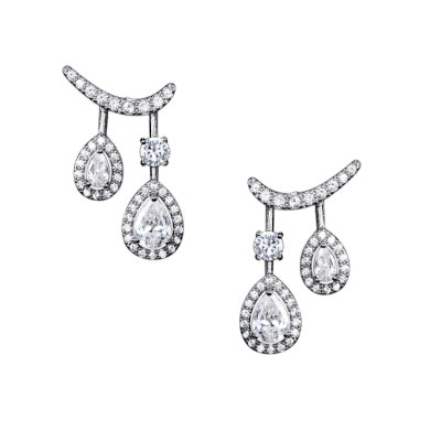 CUBIC ZIRCONIA COLLECTION - DECO DAZZLE EARRINGS - CZER542