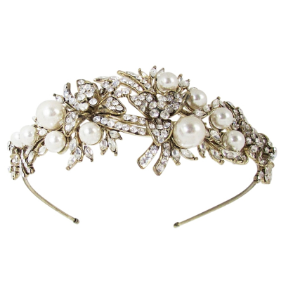 ATHENA COLLECTION - VINTAGE ALURE HEADBAND - AHB112 ANTIQUE GOLD