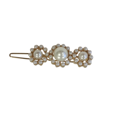 ATHENA COLLECTION - CHIC PEARL  HAIR CLIP - GOLD (CLIP750)