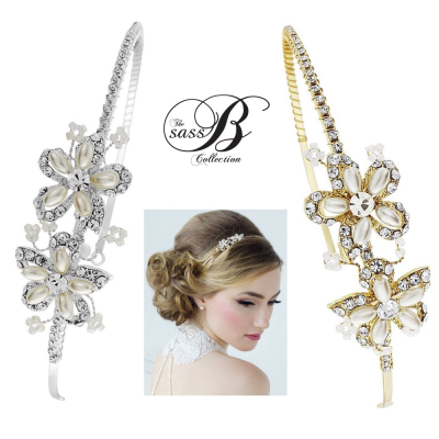 Aimee - Sweet Vintage Headband Collection - Silver & Gold- SASSB