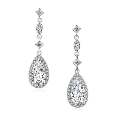 CUBIC ZIRCONIA COLLECTION - ETERNAL ELEGANCE EARRINGS - CZER460