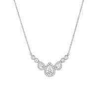 CUBIC ZIRCONIA COLLECTION - GRACEFUL NECKLACE -CZNK106 SILVER