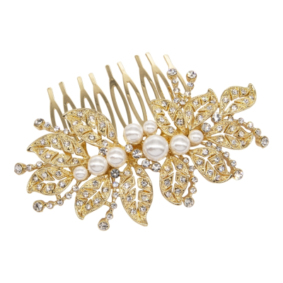 ATHENA COLLECTION - LUXE VINTAGE SPARKLE COMB - HC191 GOLD