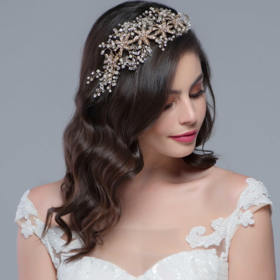 SASSB COLLECTION -  BEJEWELLED HEADPIECE -HP1-  GOLD