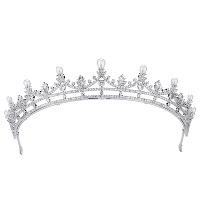 CUBIC ZIRCONIA COLLECTION - STARLET SHIMMER TIARA - AHB67